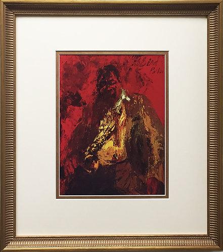 "LeRoy Neiman "" Charlie BIRD Parker"" CUSTOM FRAMED Print JAZZ Yardbird Festival"