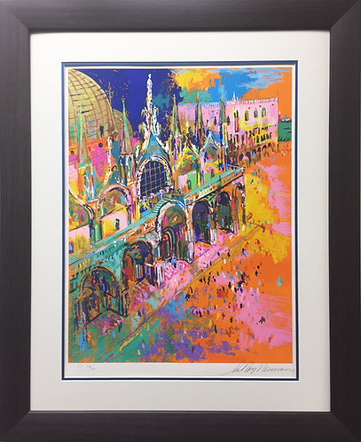 """Leroy Neiman """"Piazza san Marcos"""" CUSTOM FRAMED HAND SIGNED & SERIGRAPH S/N Italy"""