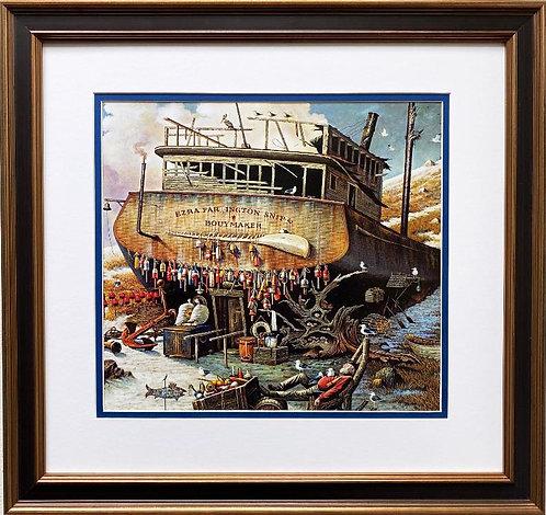 "Charles Wysocki ""Where the Buoys Are"" (detail) New CUSTOM FRAMED Art"