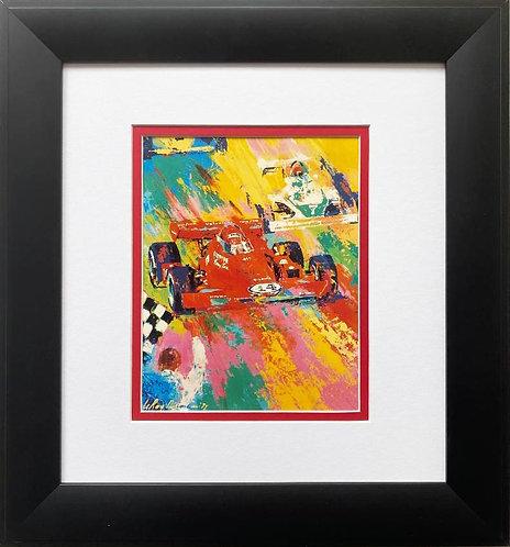 "LeRoy Neiman ""A.J. Foyt - Indy 500"" FRAMED Art Print"