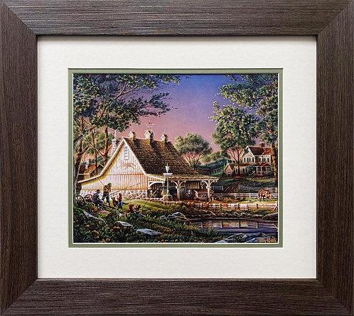 """Terry Redlin """"Family Time"""" CUSTOM FRAMED Rural America Art Print"""