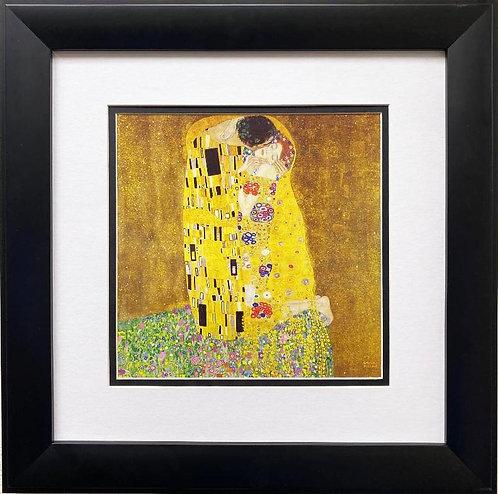 """Gustav Klimt """"The Kiss"""" 1907-08 Framed Art Print"""