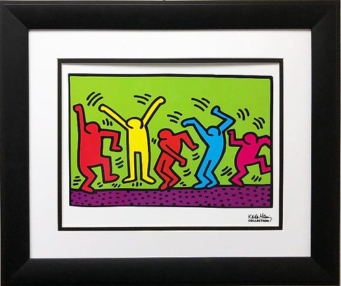"Keith Haring ""Untitled"" Dance 1987 CUSTOM FRAMED Art Lithograph"