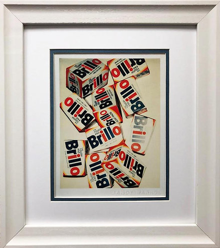 "Andy Warhol ""Brillo Boxes "" FRAMED Iconic Pop Art"