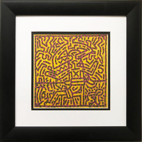 "Keith Haring ""Untitled #26"" CUSTOM FRAMED Print"