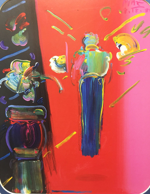 Peter Max Sage With Vase Of Flowers 1988