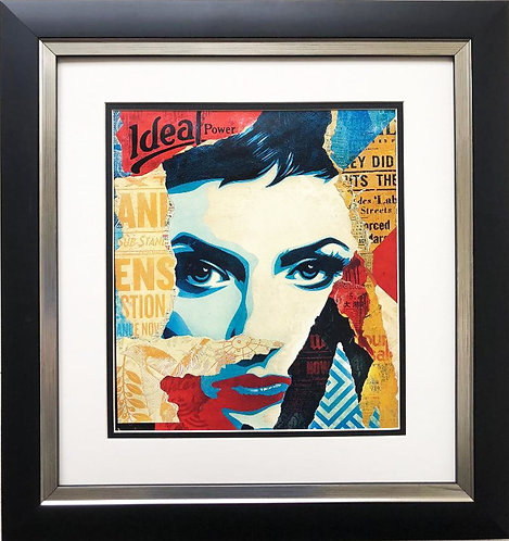 "Shepard Fairey ""Ideal Power"" CUSTOM FRAMED Art Print"