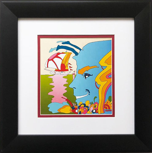 "Peter Max ""Mystic Sailing"" New CUSTOM FRAMED Art"