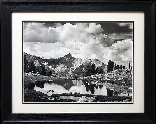 """Ansel Adams """"Mount Clarence King"""" Custom Framed NEW lithograph ART Kings Canyon"""