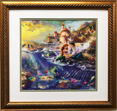 "Thomas Kinkade ""Little Mermaid"" New Custom FRAMED Art"