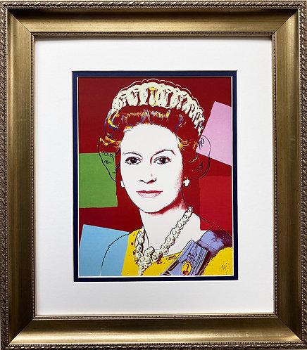 "Andy Warhol ""Queen Elizabeth II"" 1985 FRAMED Pop Art"