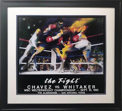 """LeRoy Neiman """"The Fight - Chavez vs. Whitaker"""" Signed FRAMED Art"""