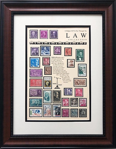 "Stamps ""Law Collection"" Framed Stamp Art"