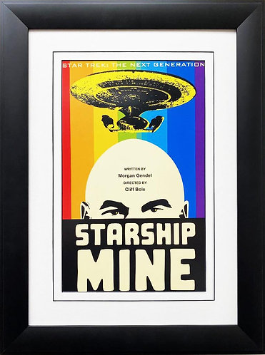 "Star Trek: The Next Generation ""Starship Mine"" CUSTOM FRAMED ART"