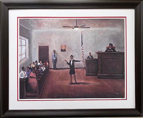 """Ted Ellis """"Equal Justice"""" FRAMED Signed & # Black Art"""