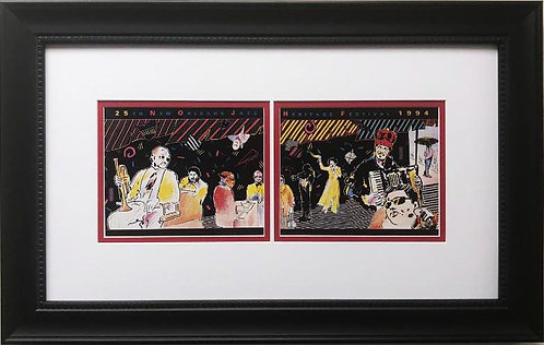 "Peter Max ""New Orleans Jazz Festival"" CUSTOM FRAMED Print Art POP Music 1997"