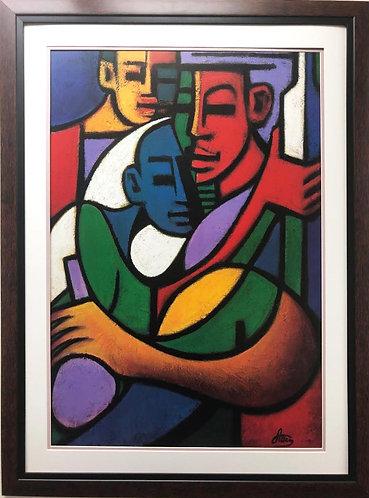 "Jonas Allen ""Good Times"" Plate Signed FRAMED African American Art"