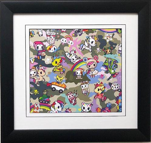 "Tokidoki ""Paint a Rainbow"" FRAMED ART"