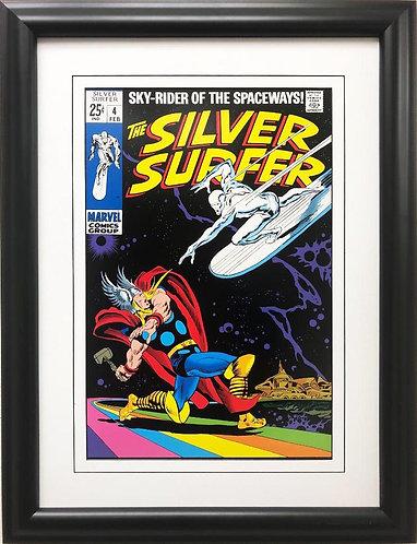 "Marvel ""The Silver Surfer"" Vol 1 #4 Framed Poster Comic Book Art"