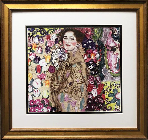 "Gustav Klimt ""Portrait of Ria Munk"" (unfinished) CUSTOM FRAMED ART"