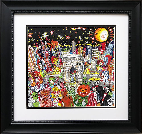 "Charles Fazzino ""Ghosts, Goodtimes, and Gridlock"" Custom Framed Print"