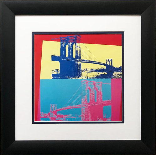 "Andy Warhol ""Brooklyn Bridge"" 1983 CUSTOM FRAMED Art Lithograph"