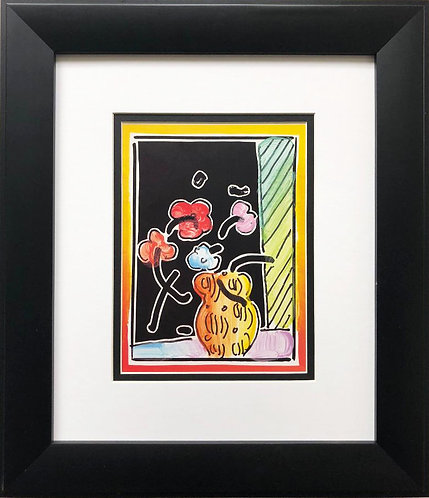"Peter Max ""Abstract Vase"" Newly CUSTOM FRAMED Art POP Print"