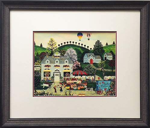 """Jane Wooster Scott """"A Profusion of Posies"""" Newly Custom FRAMED SERIGRAPH"""