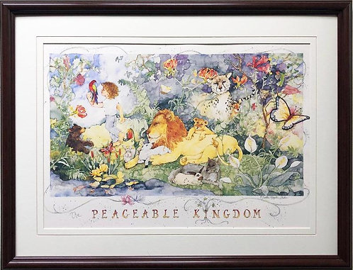 "Debbie Kingston ""Peaceable Kingdom"" FRAMED Art"
