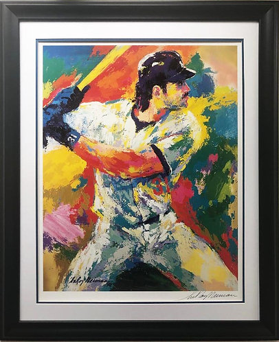 """LeRoy Neiman """"Mike Piazza"""" Signed FRAMED Art"""