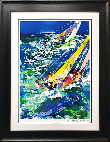 "LeRoy Neiman ""High Seas Sailing"" Framed Hand Signed Serigraph"