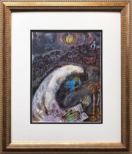 """Marc Chagall """"L' Homme on Priere"""" Newly FRAMED Art Rare Offset Litho"""