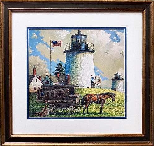 "Charles Wysocki ""Old Cape Cod Pie Company"" New CUSTOM FRAMED Art"