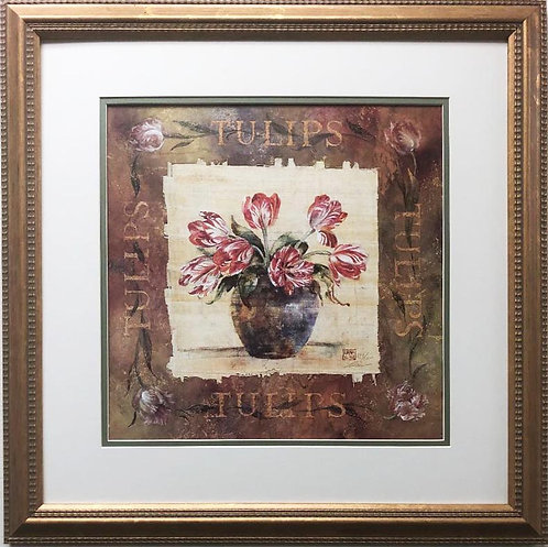 "Lena Liu ""Tulips"" Hand Signed Limited Edition Framed Art"