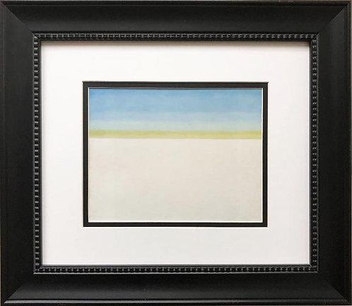 "Georgia O'Keeffe ""Sky with Flat White Cloud"" Custom Framed Art Print"