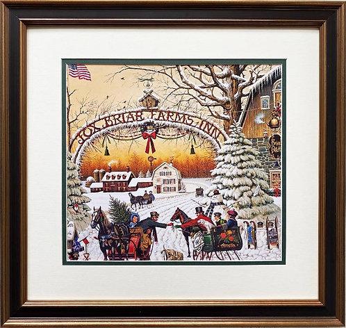 "Charles Wysocki ""A Christmas Greeting"" New CUSTOM FRAMED Art"