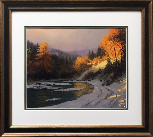 """Thomas Kinkade """"Autumn Snow"""""""