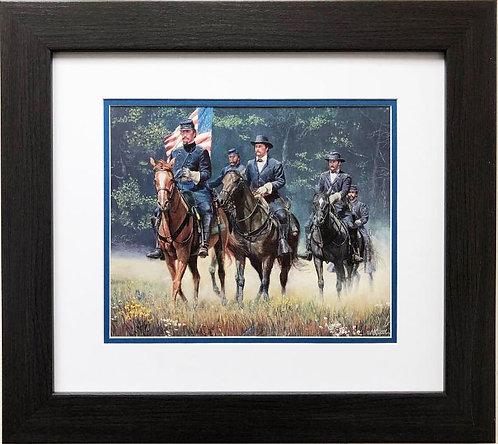 "Mort Kunstler ""The Soldiers of Old Glory "" NEW CUSTOM FRAMED Civil War Art"