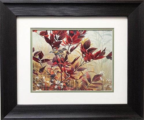 """Robert Bateman"""" Yellow Rumped Warbler & Sumac"""" FRAMED Art"""