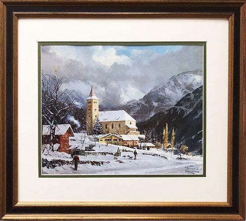 "Thomas Kinkade ""Winter Chapel"""