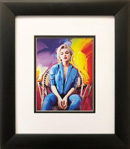 "Peter Max ""Marilyn Monroe in Denim"" CUSTOM FRAMED Print Art POP psychedelic Icon"