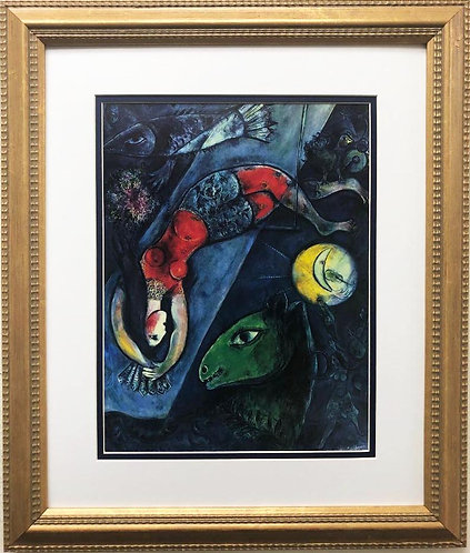 "Marc Chagall ""The Blue Circus"" New CUSTOM FRAMED Art Rare Poster"