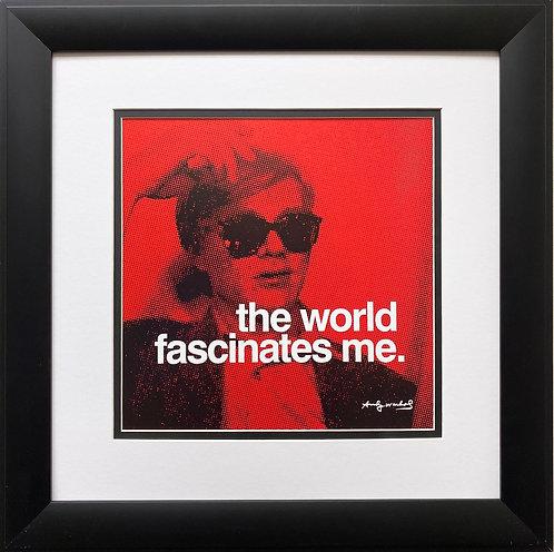 "Andy Warhol ""The World Fascinates Me"" CUSTOM FRAMED Pop Art"