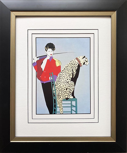"Patrick Nagel ""Untitled #54 NEW CUSTOM FRAMED Art Deco Print"