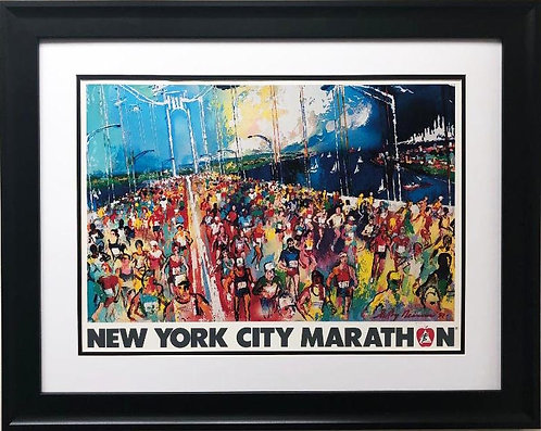 "LeRoy Neiman ""New York City Marathon"" CUSTOM FRAMED Art"