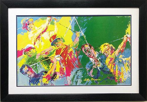 """LeRoy Neiman """"Golf Champs"""" Custom Framed Art"""