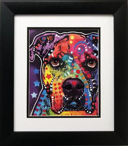 "Dean Russo ""American Bulldog"" FRAMED  Pop Art"