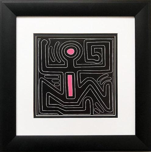 "Keith Haring ""Untitled #48"" CUSTOM FRAMED Print"