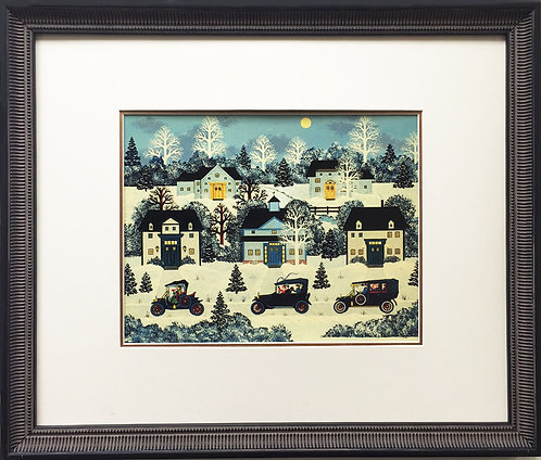 "Jane Wooster Scott ""The Party is Over"" Newly Custom FRAMED SERIGRAPH Art"