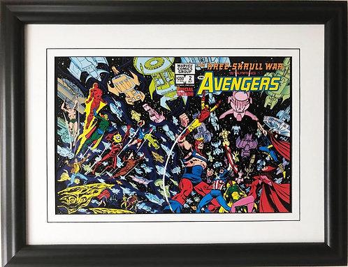 """Marvel """"Kree Skrull War Starring the Avengers """" #2 Framed Comic Book Poster"""